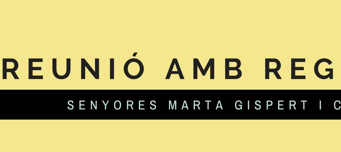 Reunió amb les Regidores per CIU Senyores Marta Gispert i Cristina Simó