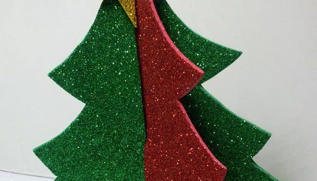Taller de manualitats Nadalenques elavorades amb Goma Eva (foamy) de purpurina
